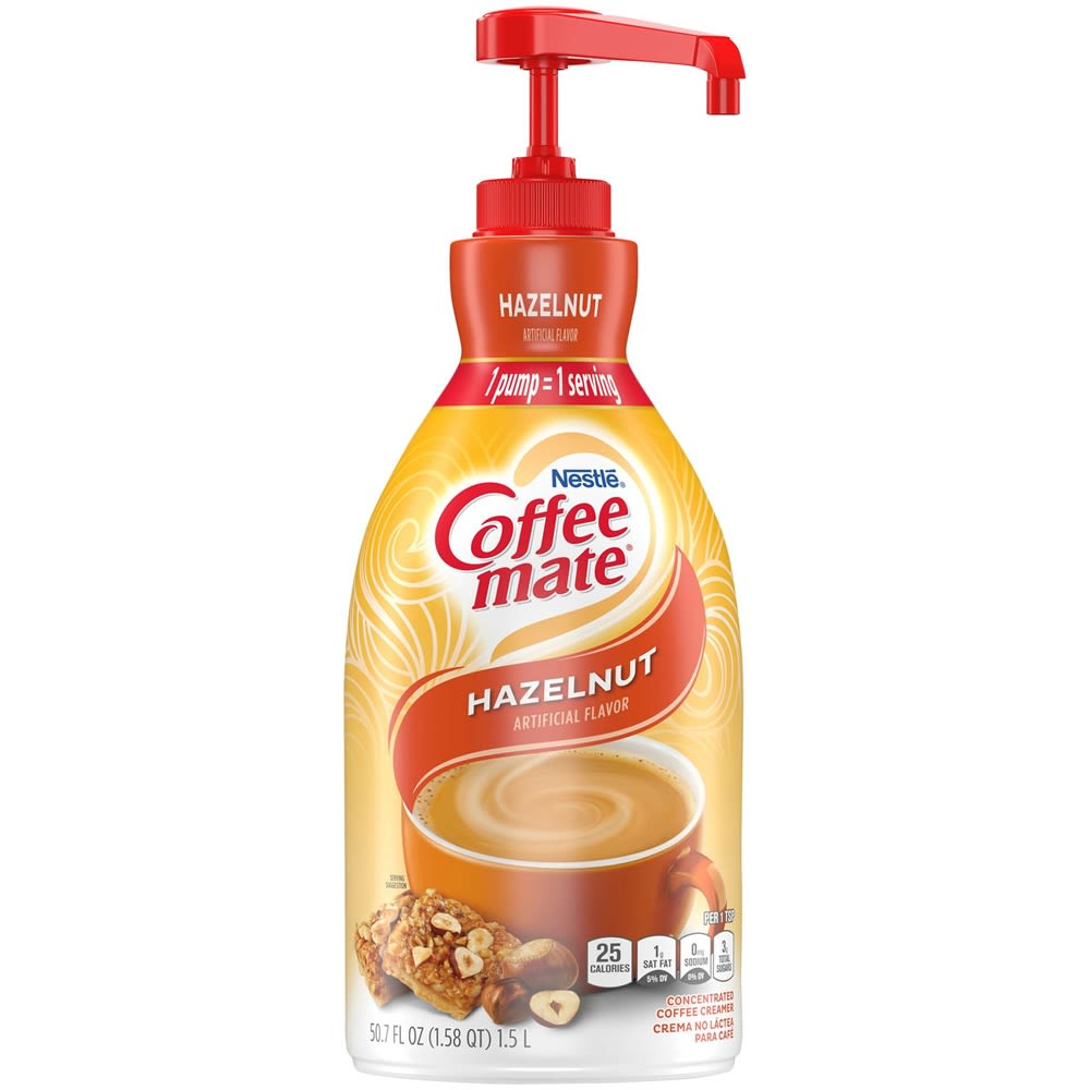 Hazelnut Coffee-mate Creamer, 2 bottles, 1.58 Q each