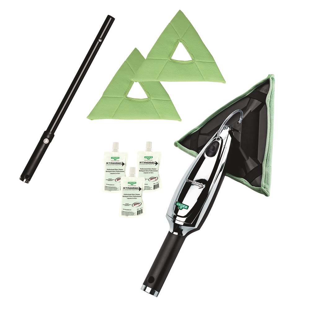 Unger® Stingray Indoor Deluxe Window Cleaning Kit 3 Ft
