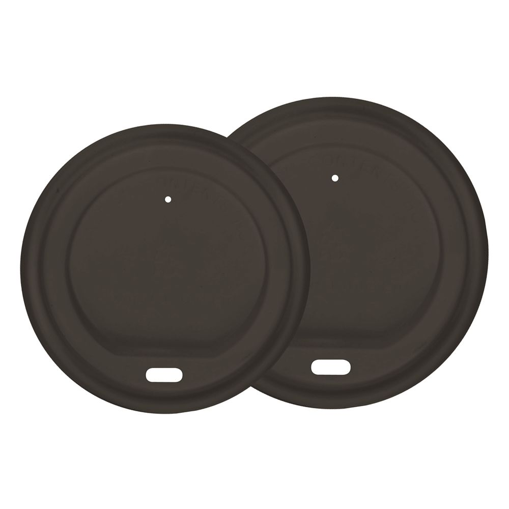 Black Polystyrene Lids 10/12/16 Ounce Cups