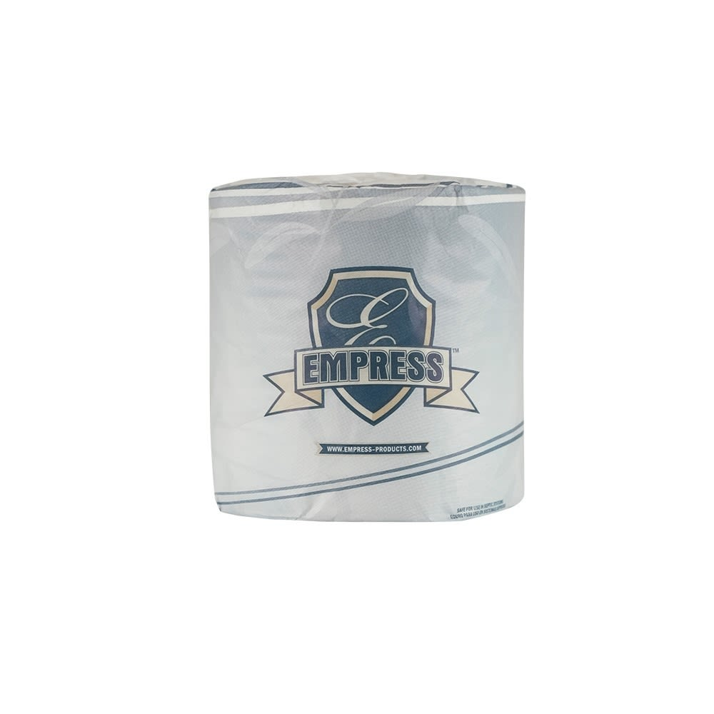 Empress Standard Roll 2-Ply Toilet Paper 4.06 in x 3.6 in, 500 Sheets / 96 Rolls