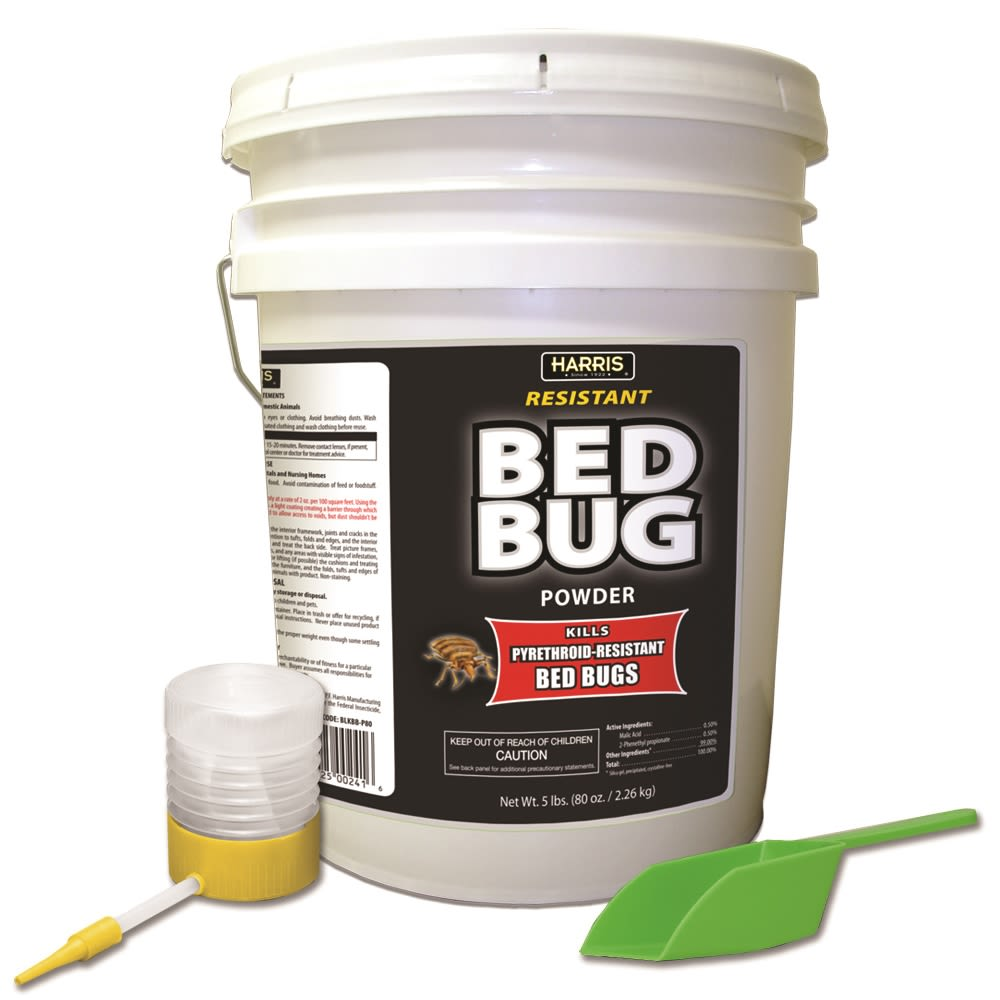 Harris® Resistant Bed Bug Powder Includes Scoop and Duster Applicator, 80oz.