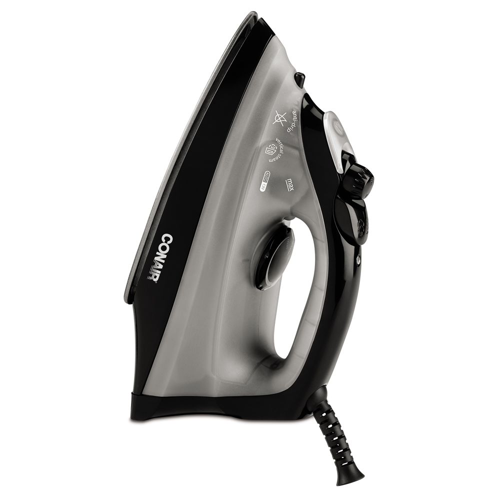 Conair® WCI216BK Compact Full-Feature Steam and Dry Iron, Black