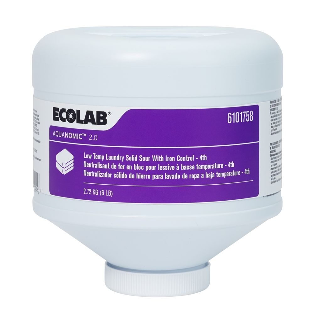Ecolab® Aquanomic Low-Temp Laundry Solid Iron Control Sour 6 lb (4th), #6101758