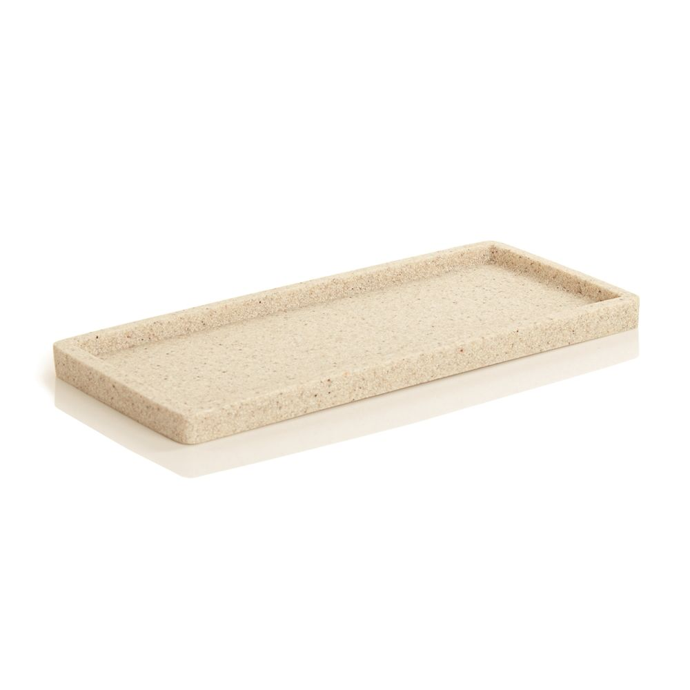 Alistaire Collection, Sandstone Resin Small Amenity Tray, Sand