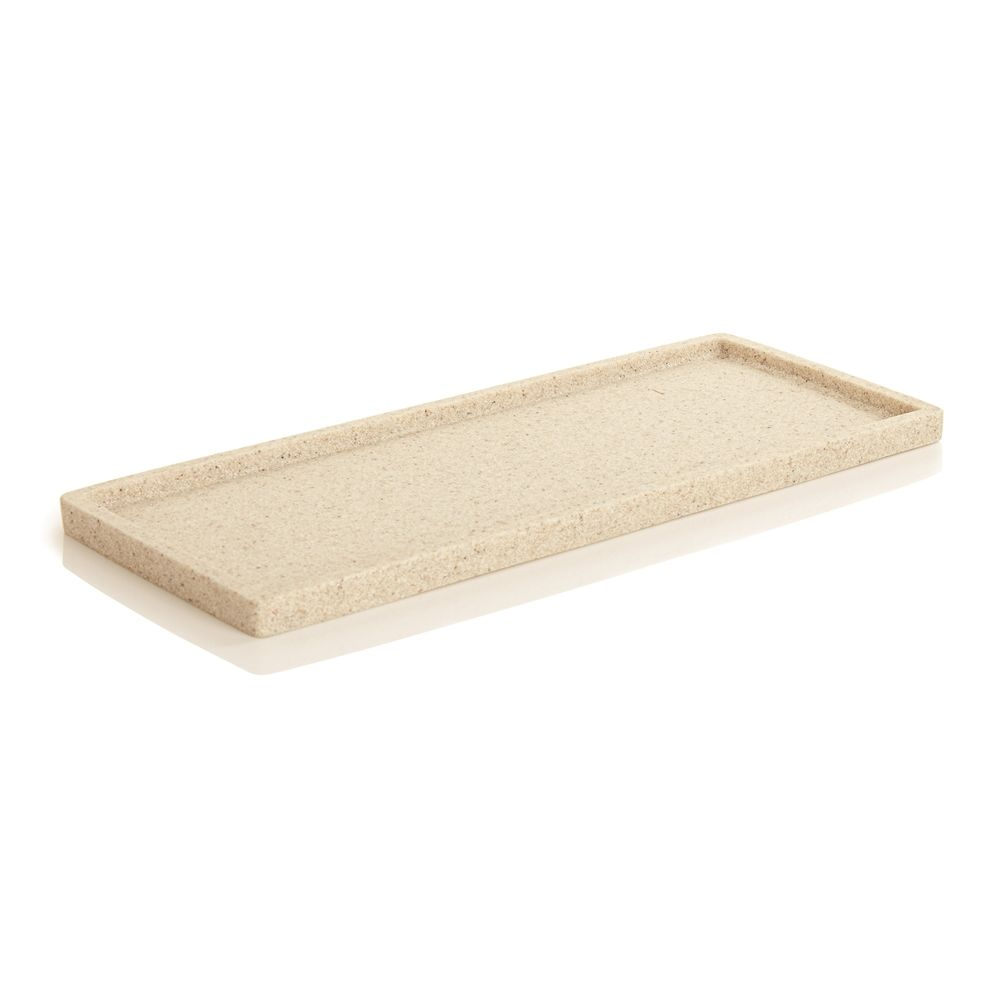 Alistaire Collection, Sandstone Resin Medium Amenity Tray, Sand