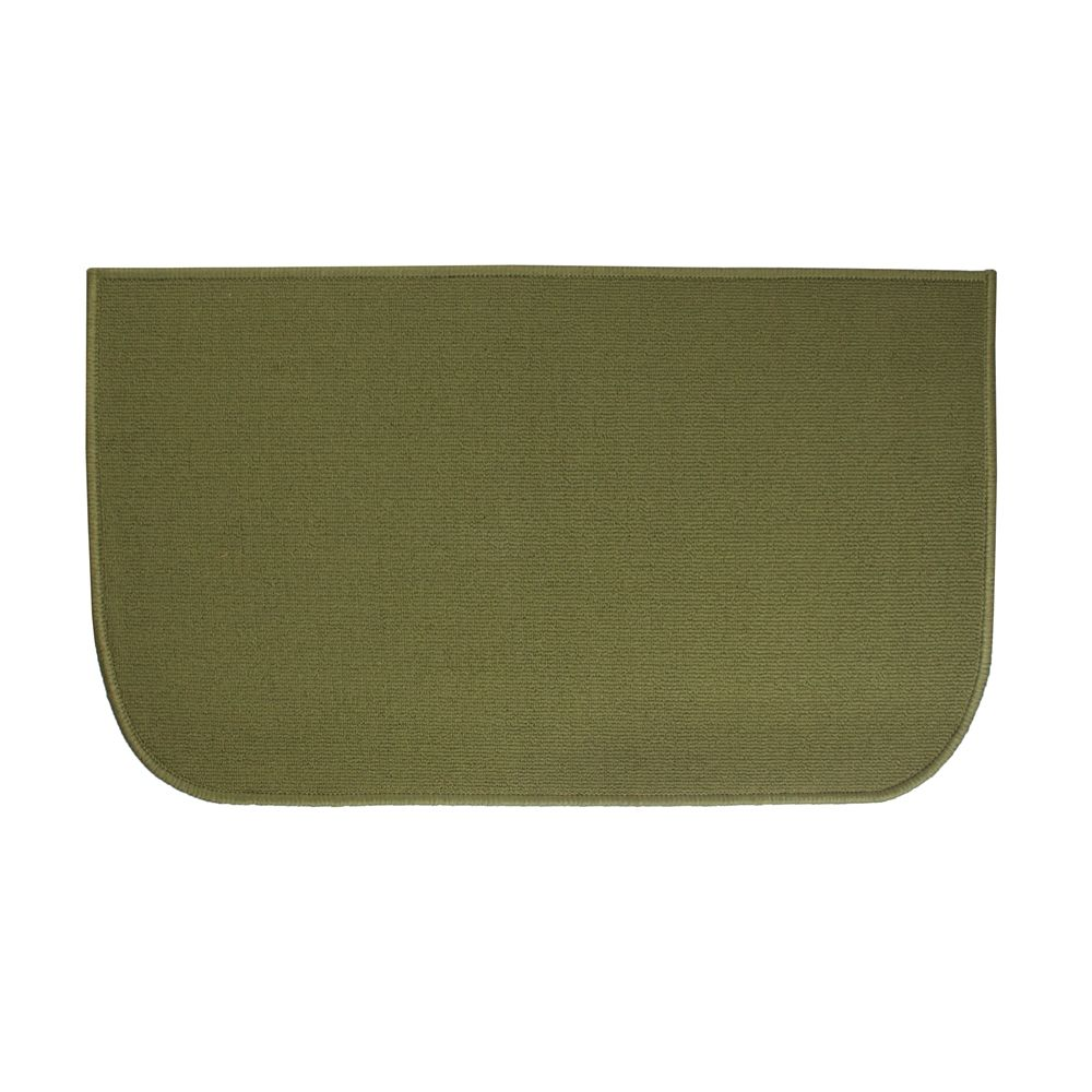 Ritz Accent Rug, 100% Olefin, 18x30, Solid Green