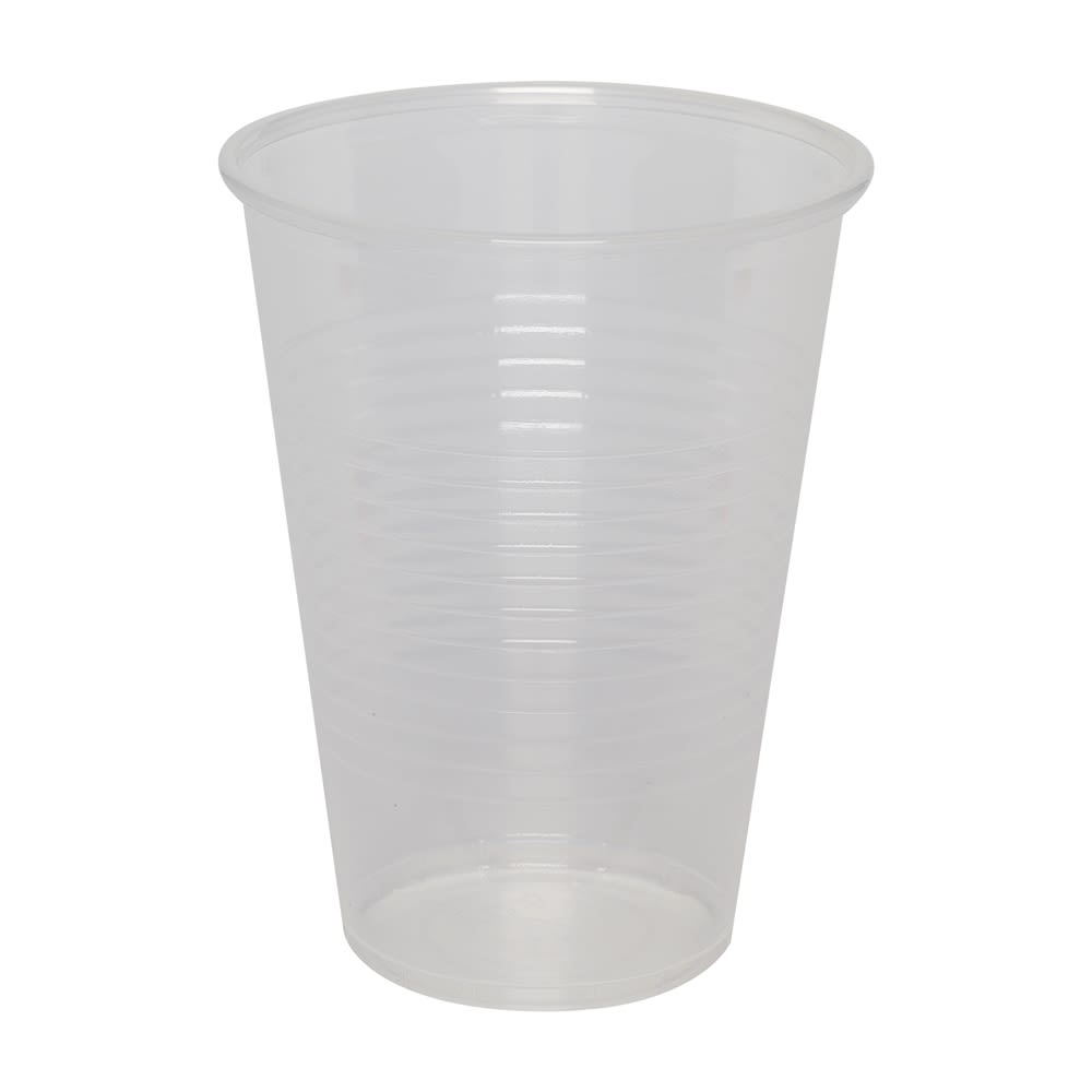 Clear Tall Plastic Cup, Polypropylene, 9 oz.