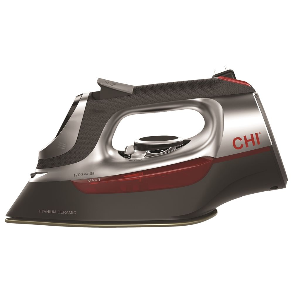 CHI Pro Titanium Plate Iron with Retractable Cord