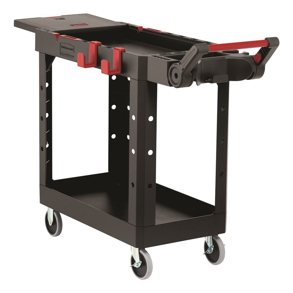 Rubbermaid® Heavy Duty Adaptable Utility Cart (Small) Black