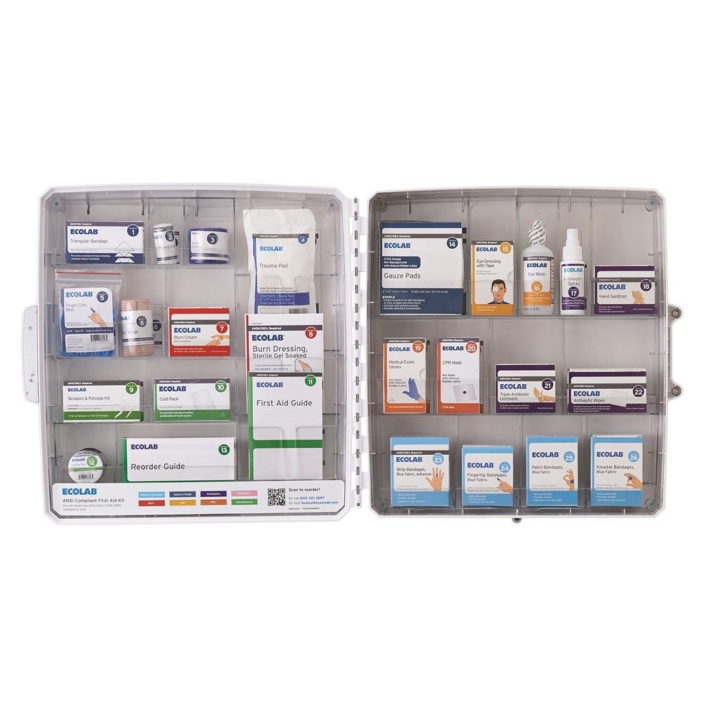 Ecolab® CarePod Essentials First Aid Kit Fully Stocked 50225-90-11