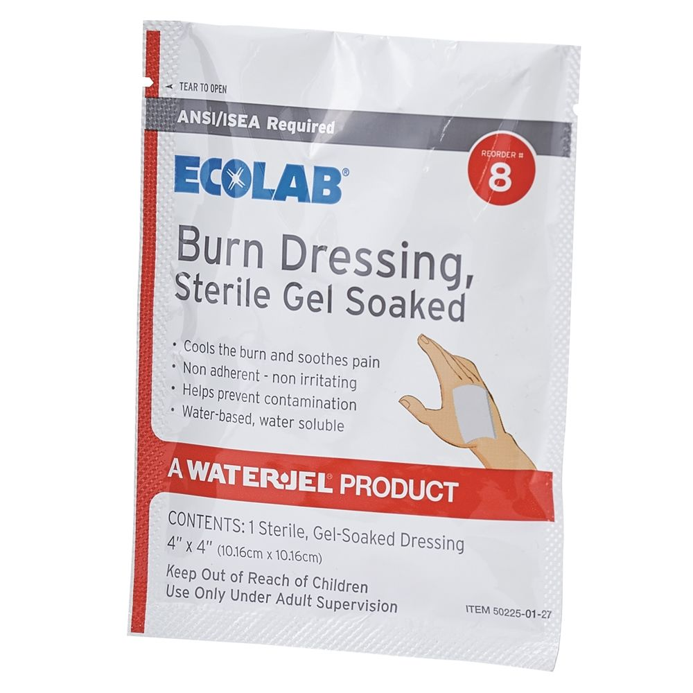 Ecolab® Burn Dressing, 4 in. x 4 in 50225-01-27 Reorder No. 8