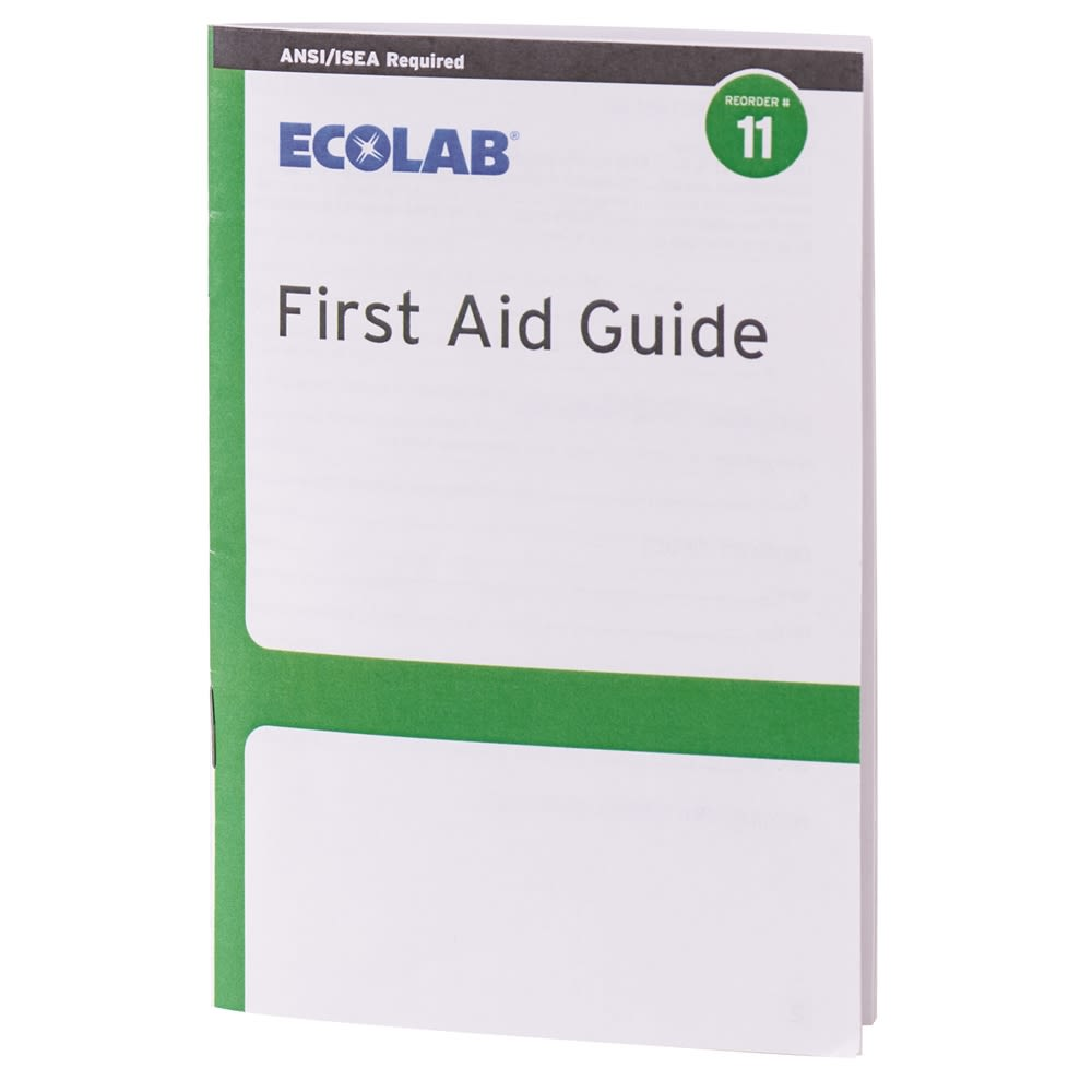 Ecolab® First Aid Guide 50225-01-03 Reorder No. 11