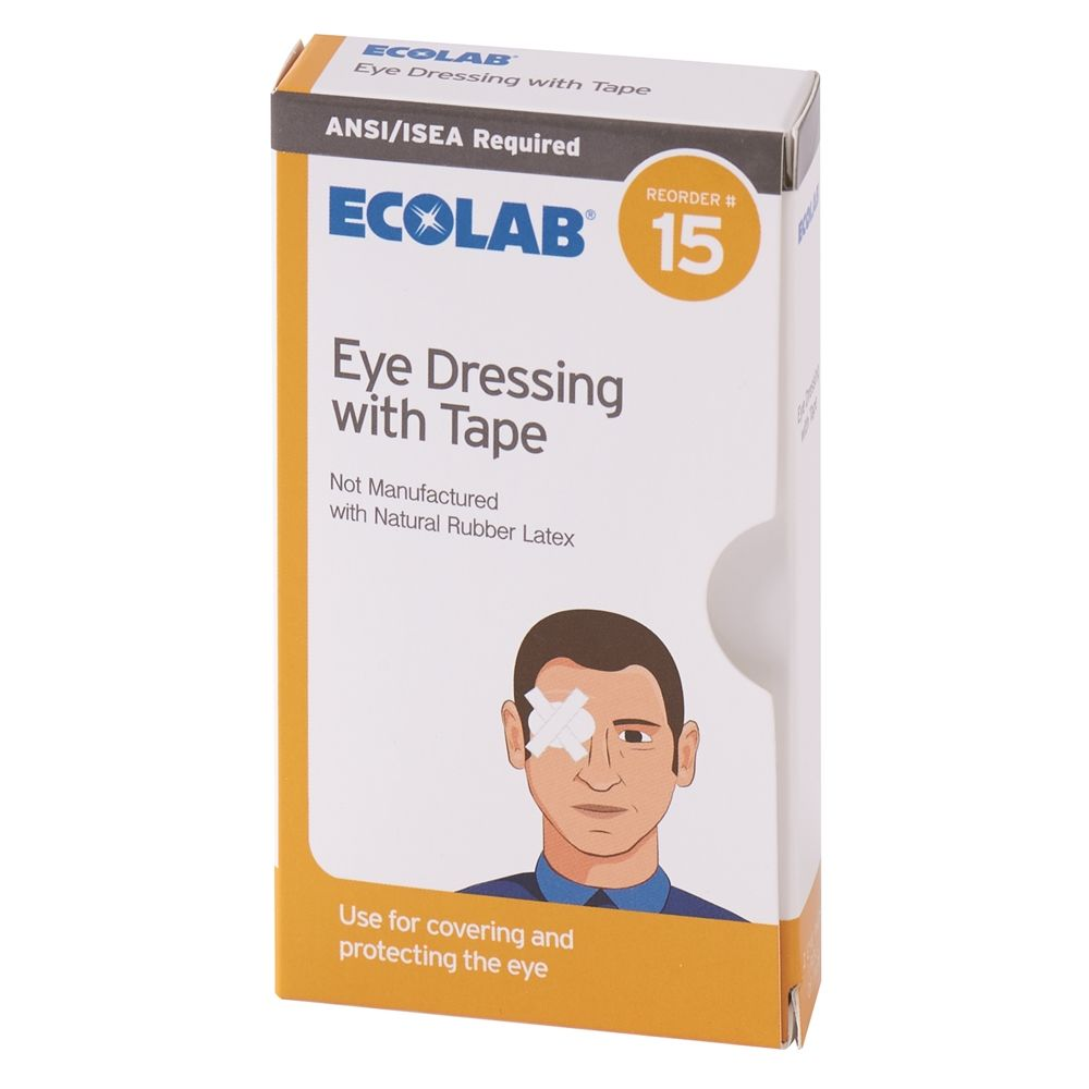 Ecolab® Eye Dressing with Tape 2 per Pack 50225-01-18 Reorder No. 15