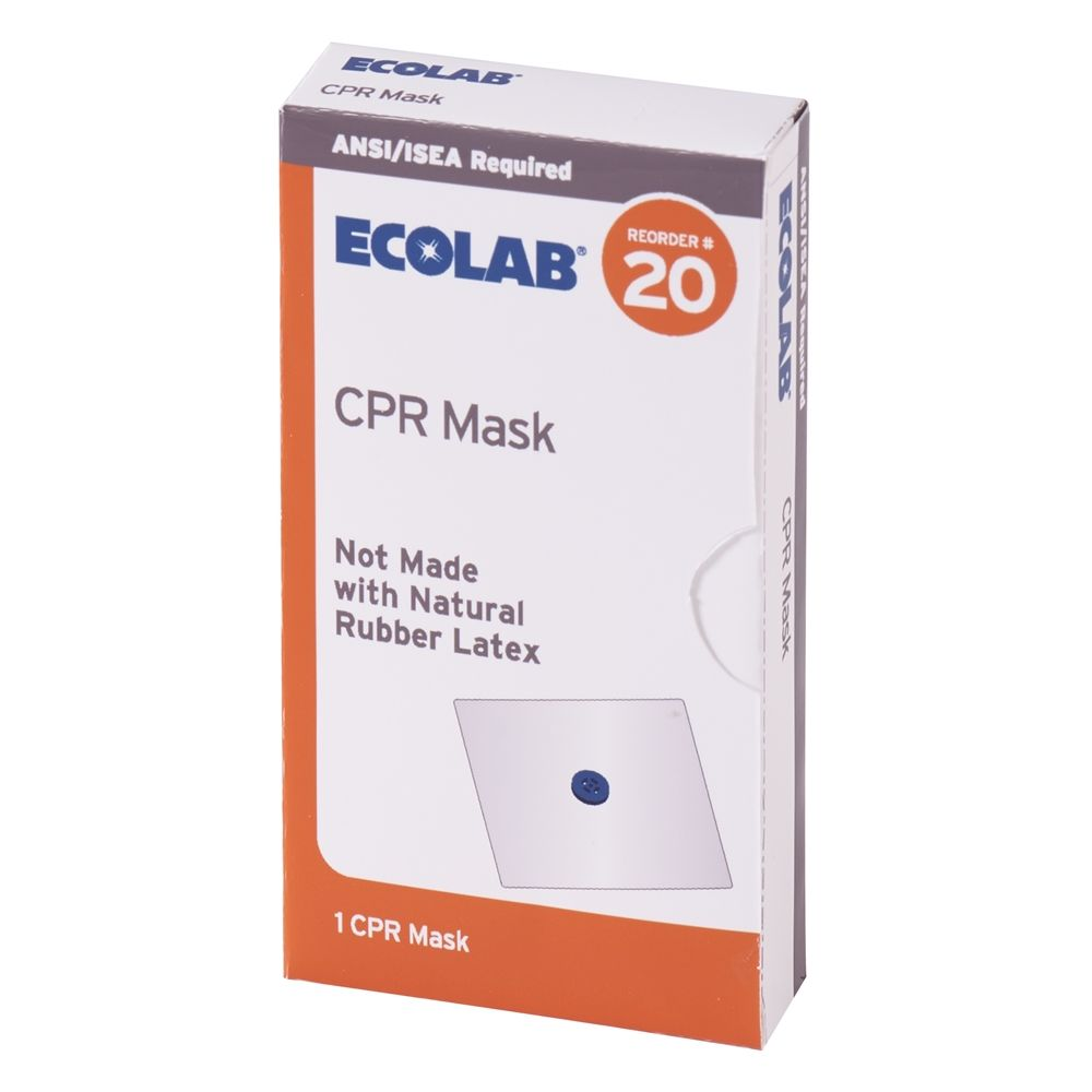 Ecolab® Breathing Barrier / CPR Mask -1 Mask 50225-01-12 Reorder No. 20