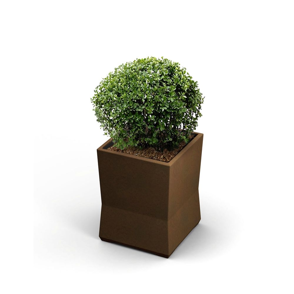 "Commercial Zone® ModTec Series® Small Planter,  15"" x 15"" x 20"", Old Bronze"