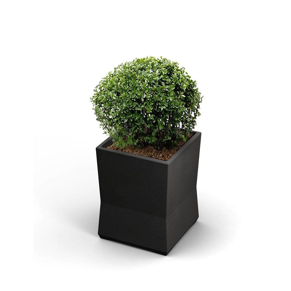 "Commercial Zone® ModTec Series® Small Planter,  15"" x 15"" x 20"", Gunmetal Satin"