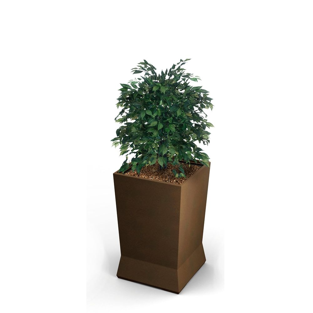 "Commercial Zone® ModTec Series® Large Planter, 22"" x 22"" x 37-1/8"", Old Bronze"