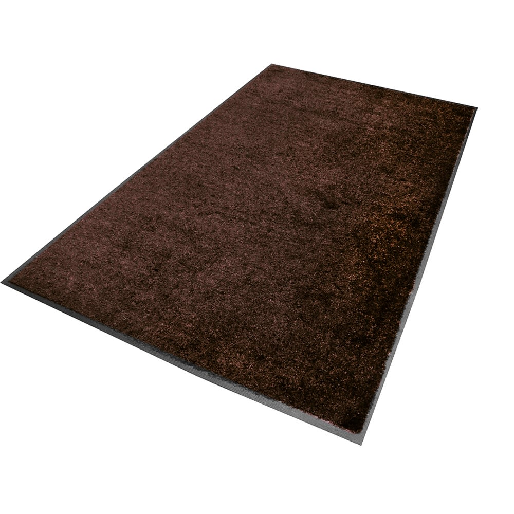 M+A Matting® ColorStar® 4x6 Carpeted (Wiper) Indoor Mat. Smooth Backing, Chocolate Brown
