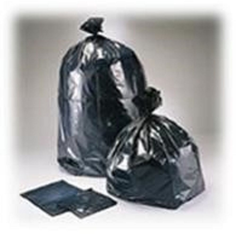 Multiplast, Can Liner, Bio-enhanced Low Density, 38x58, 1.3mil, Black, 50-55 Gallon