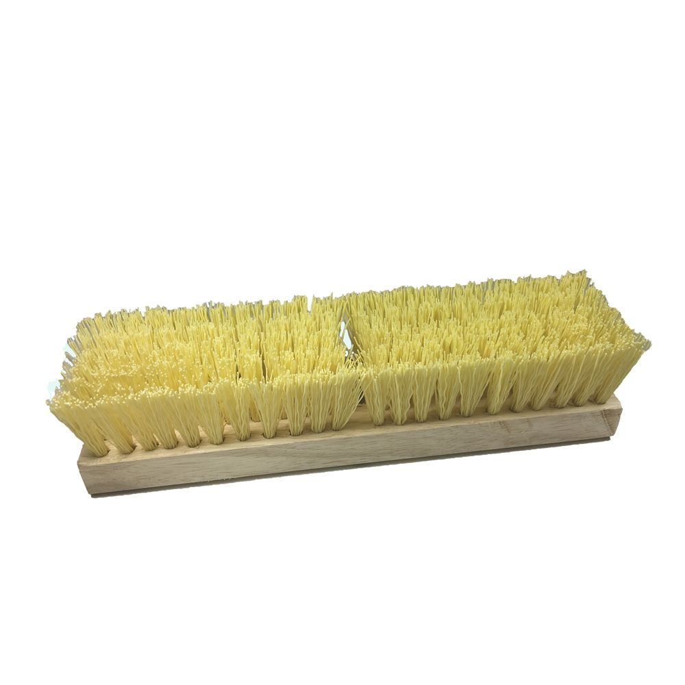 Better Brush® 12 In Deck Brush, Plastic Bristle, One Threaded and One Tapered Handle Hole, No Handle