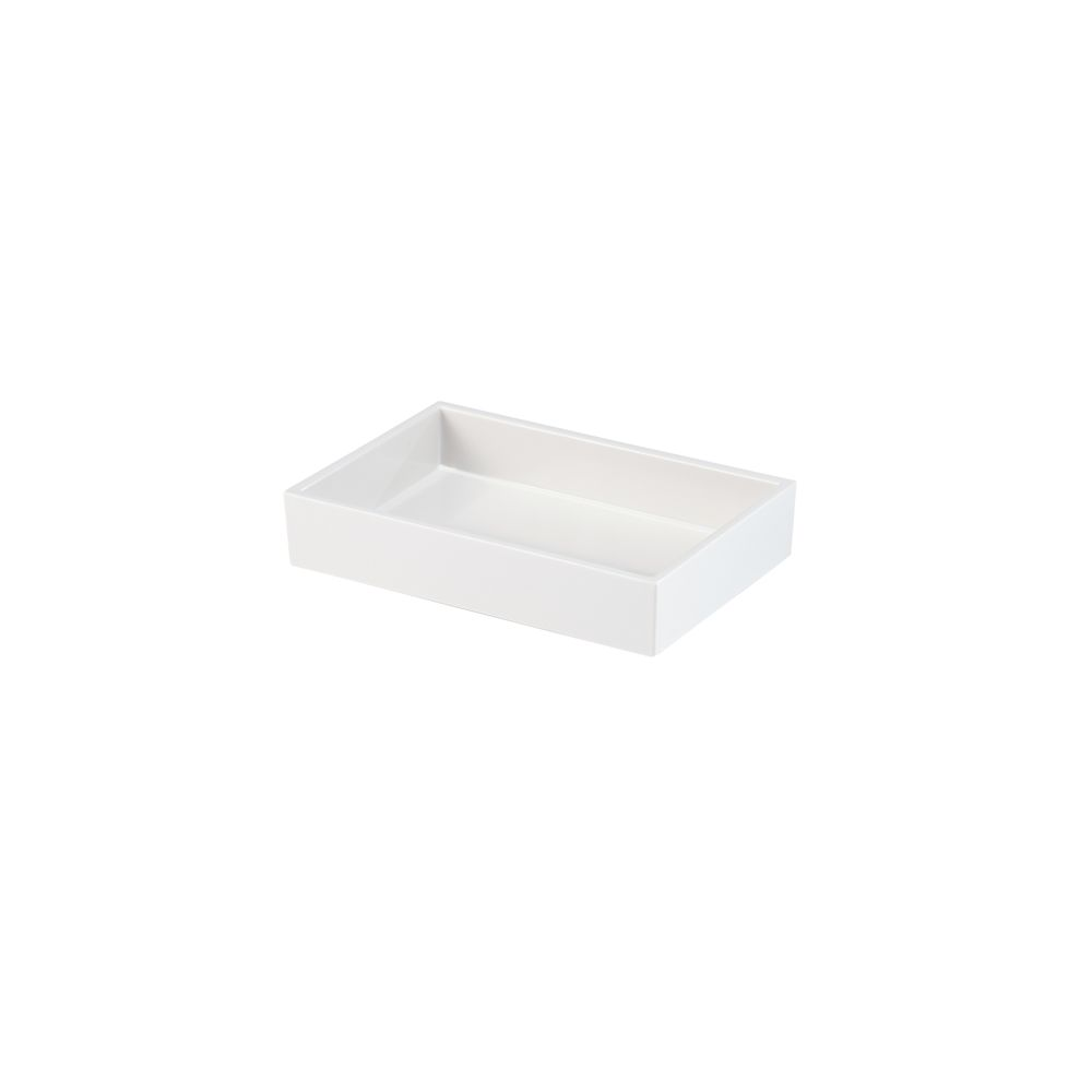 Spa Collection Melamine Soap Dish, White