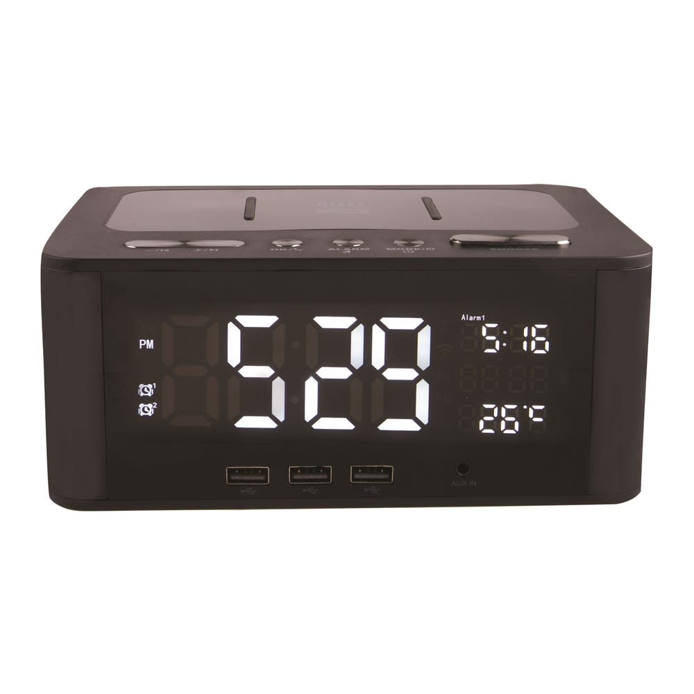Altec Lansing IMW466-N Dual Alarm Clock Triple USB Charging
