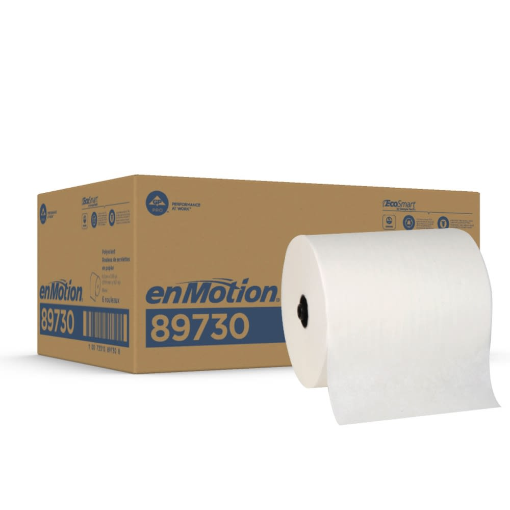enMotion® Flex Recycled Paper Towel Roll by GP PRO, White, 550 Feet Per Roll, 6 Rolls Per Case