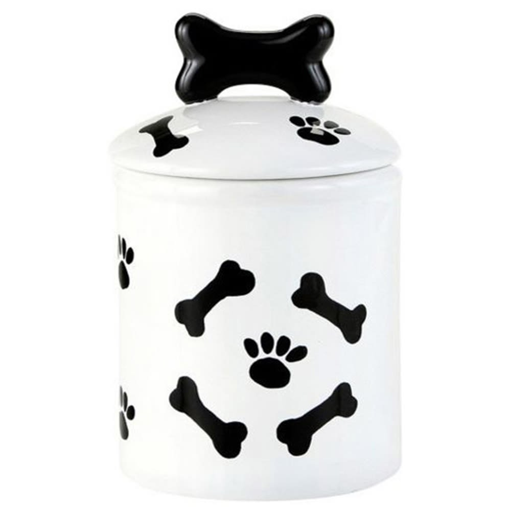 Pet Friendly Dog Bone Ceramic Treat Jar, Small