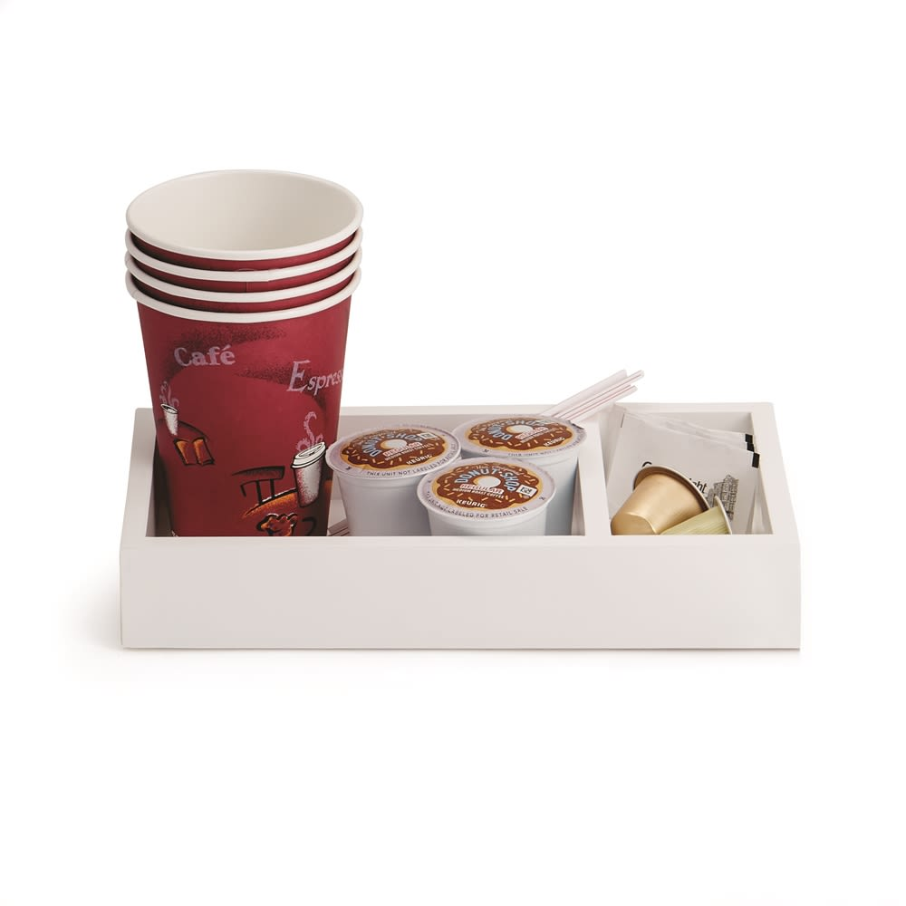 Coffee Compartment Tray, White