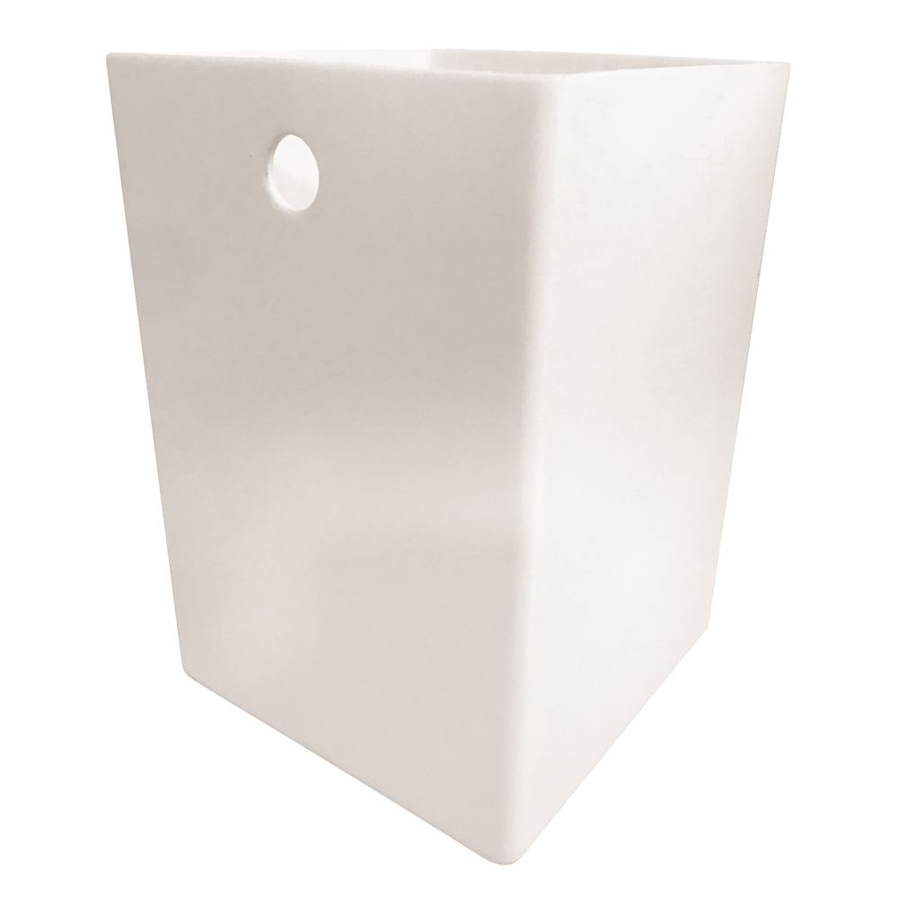 Cubix White Collection 9 Quart Wastebasket Liner, White