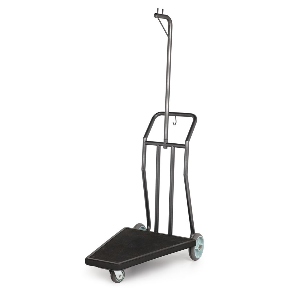"Coastal Compact Luggage Cart, 25""W x 71""H x 42""L, Stainless Steel w/ Rust Resistant Coating"
