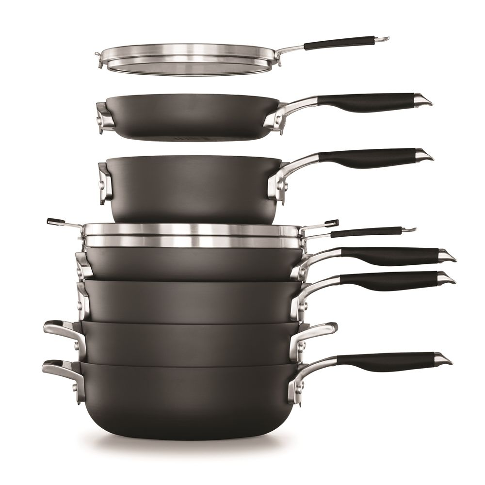 Calphalon 9-Piece, Space Saving Cookware Set