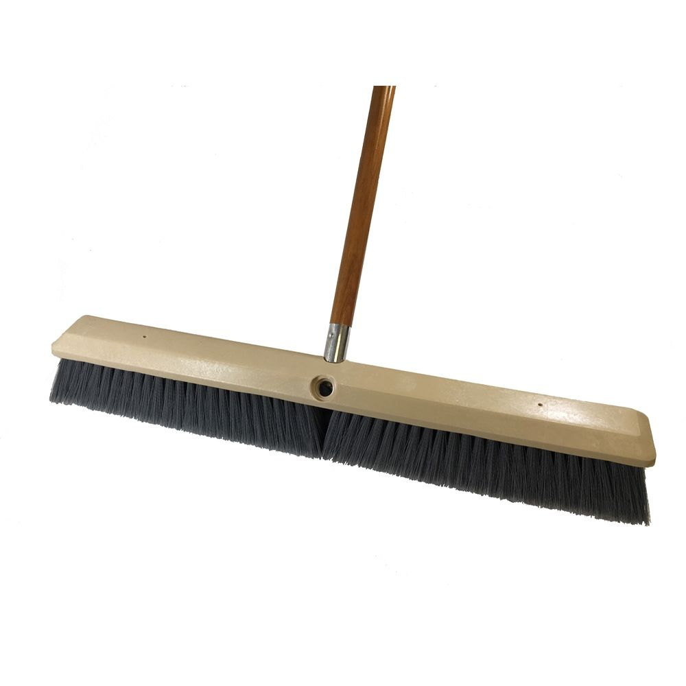 Better Brush® 24 Inch Fine Push Broom Kit for Smooth Surfaces (Handle and Broom)