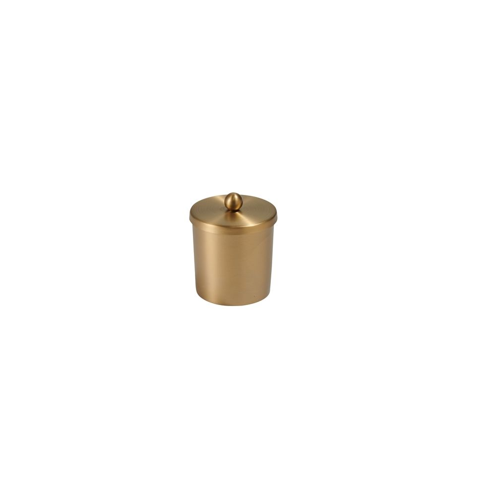 Cairo Collection Cotton Container, Stainless Steel Brushed Gold