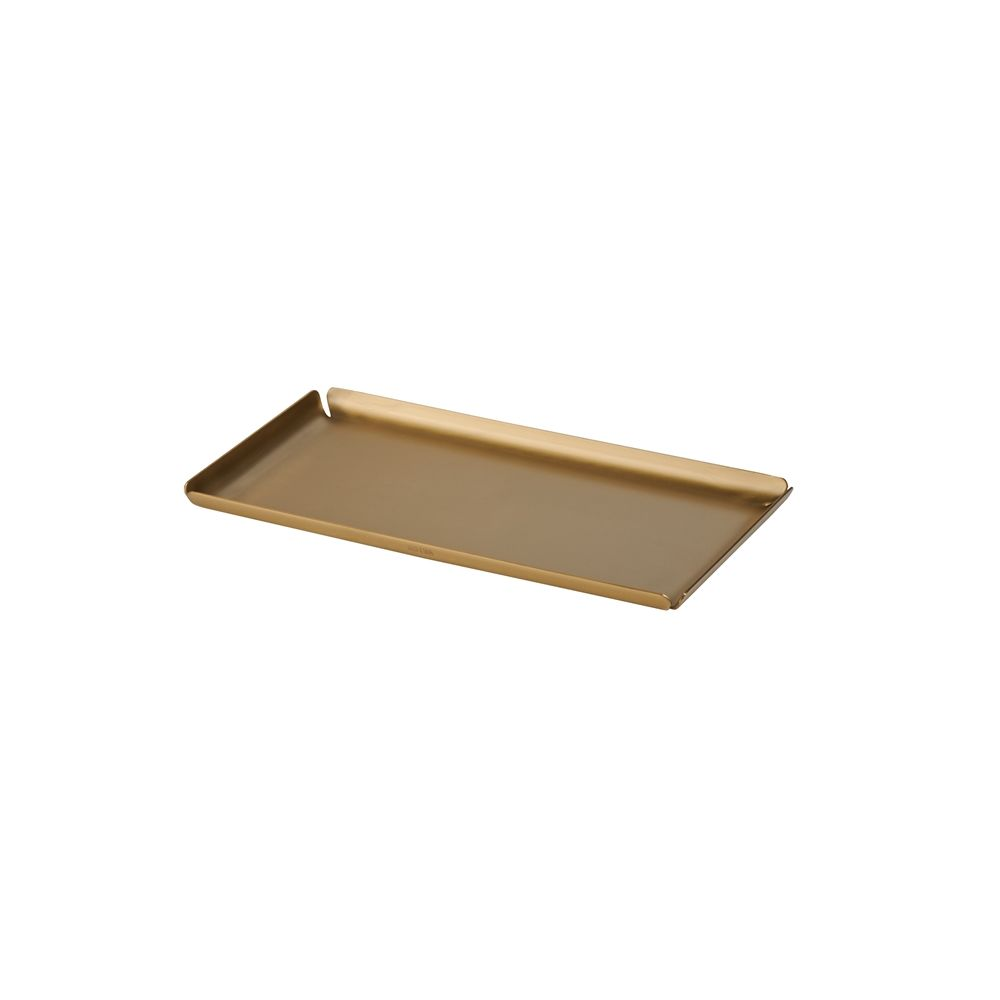 Cairo Collection Amenity Tray, Stainless Steel Brushed Gold