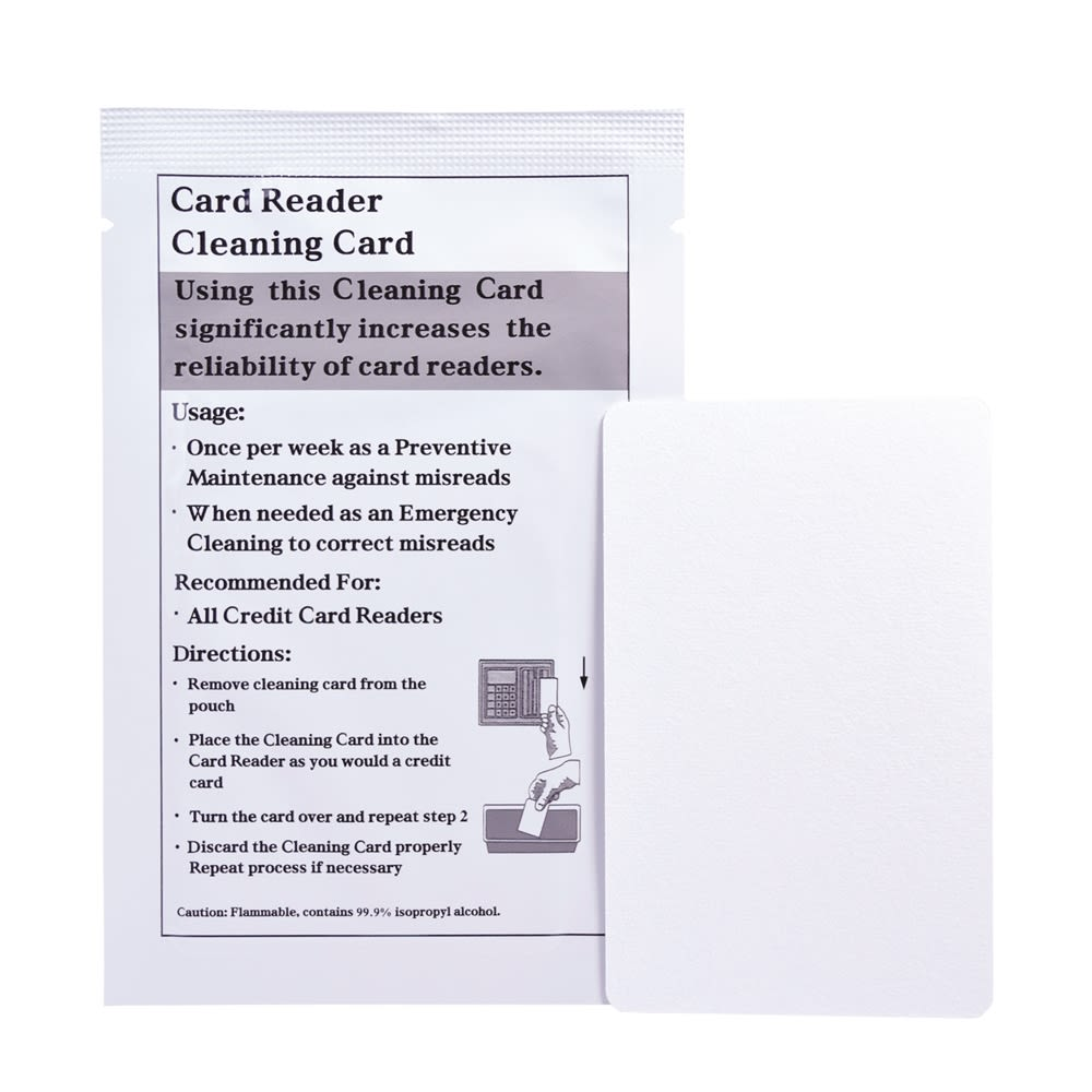 Door Lock Cleaning Card, Double Sided