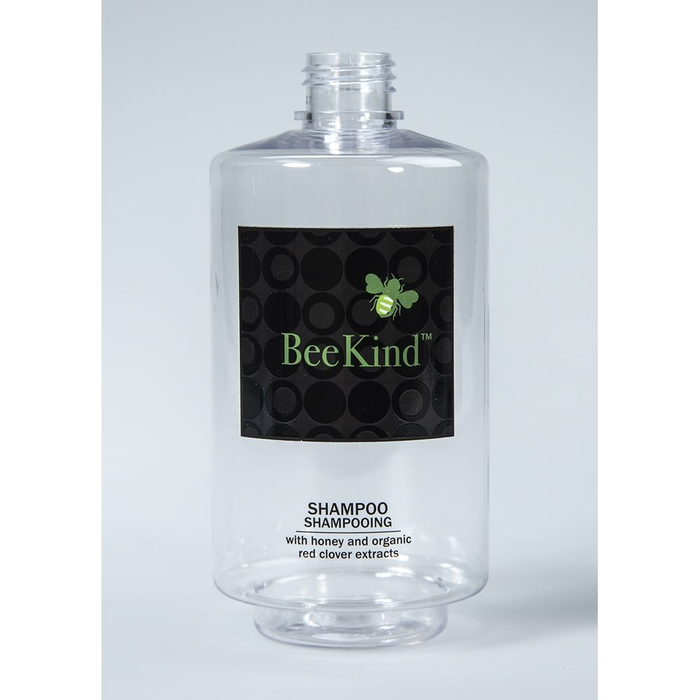 BeeKind Shampoo Clear Easy Fill Dispenser Bottle, Empty - No Pump, 300ml