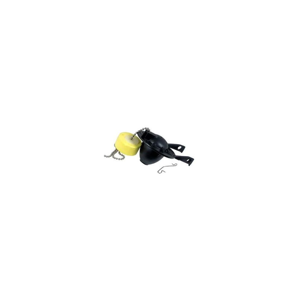 7381129-200.0070A 3-in Black Rubber Flapper with Chain and Float for Cadet 3 Toilet