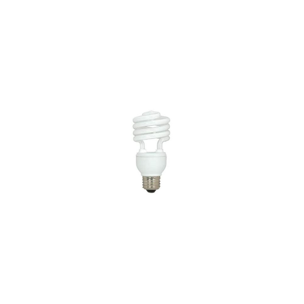 Satco 18W T2 Compact Fluorescent Light Bulb with Medium Base