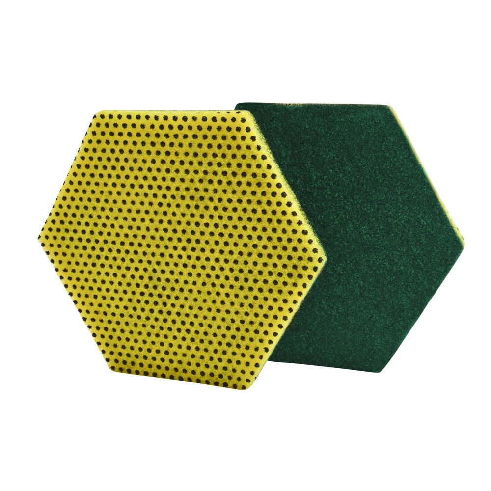 3M Corporation® Scotch-Brite® Dual Purpose HEX Shape Scour Pad, 5 x 5.75 Inch