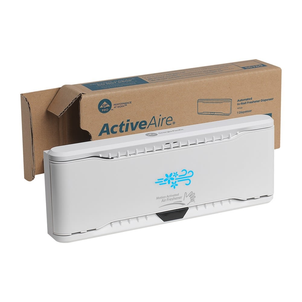 Activeaire® Automatic In-Stall Freshener Dispenser by GP Pro, White, 9.5W x 3.5H