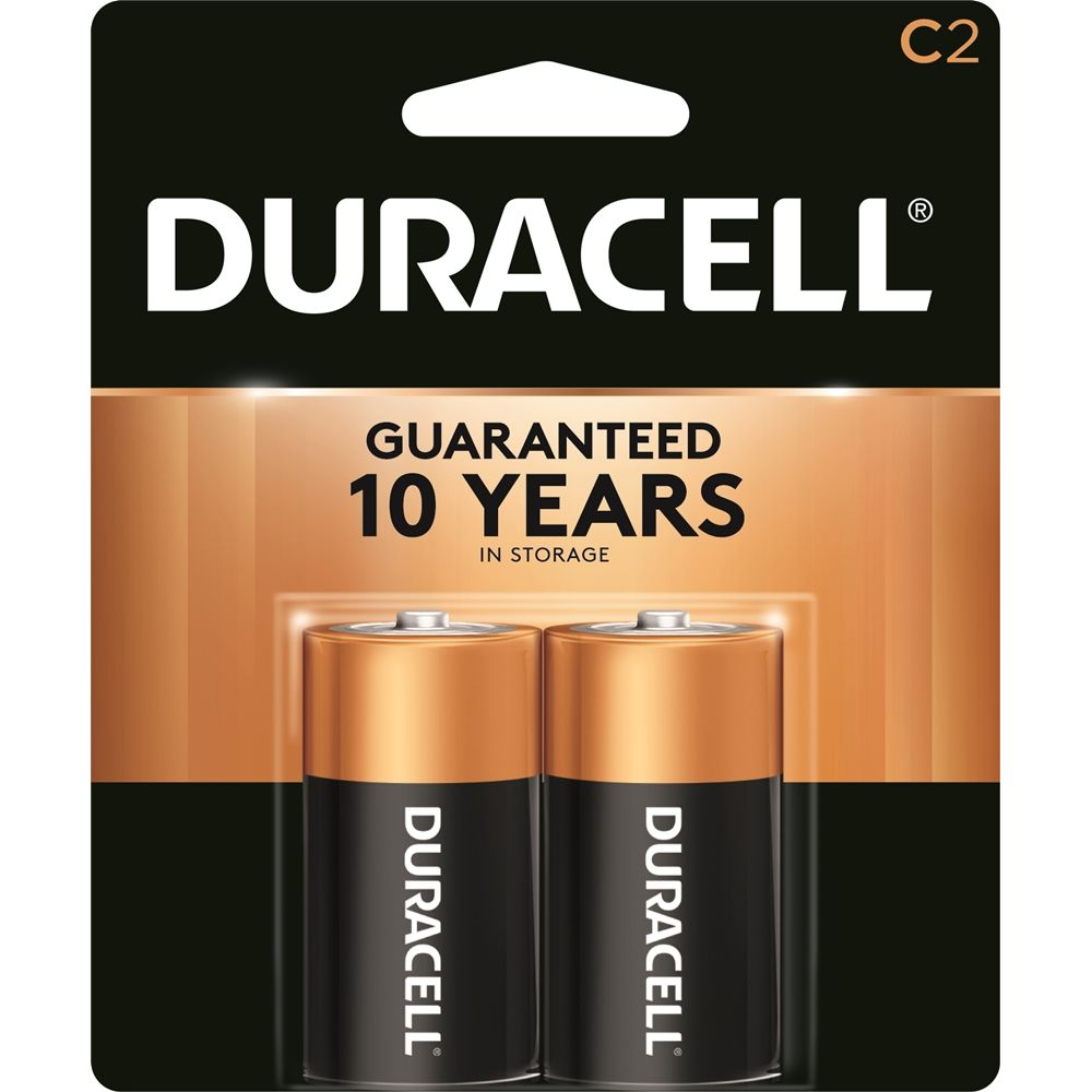 Duracell 1.5V C Alkaline Battery 2-Pack