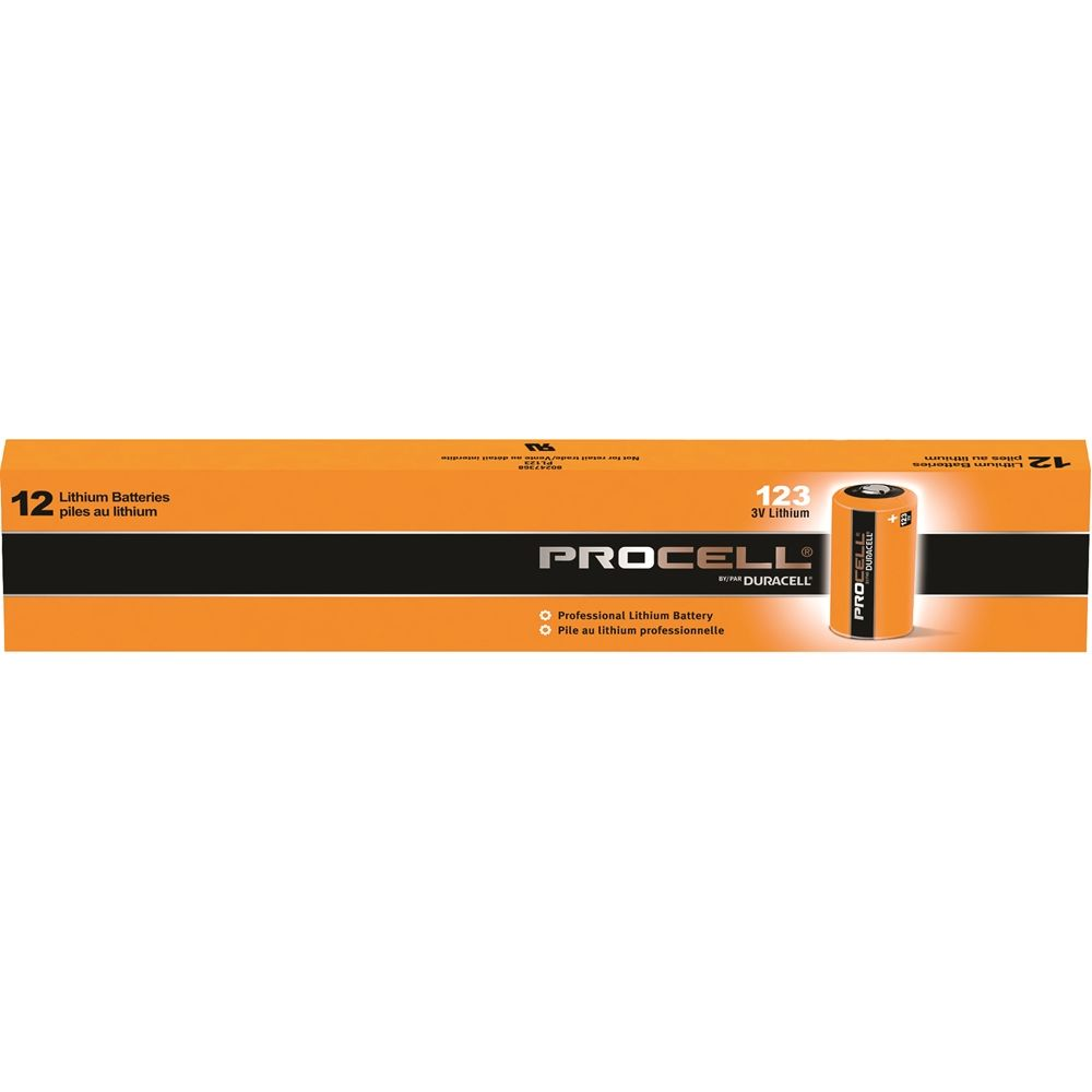 Duracell Procell® 3V 123 Lithium Battery 12-Pack