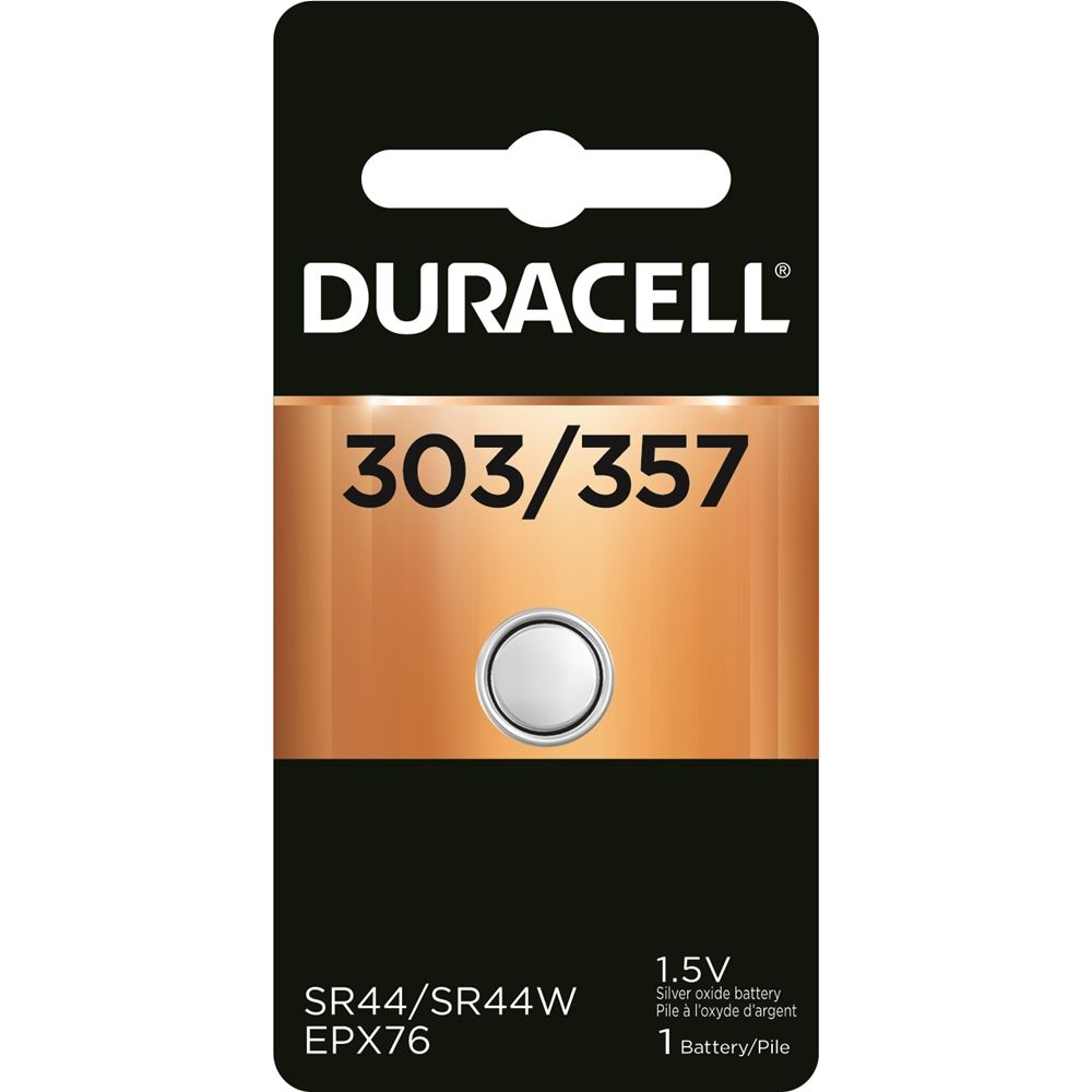 Duracell 1.5V 303/357 Silver Oxide Battery