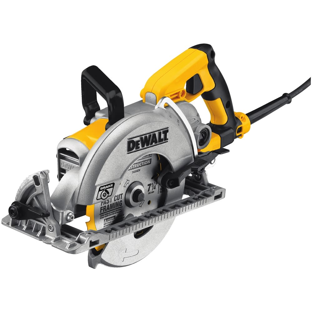 DEWALT 7-1/4 in. Worm Drive Saw with Electric Brake