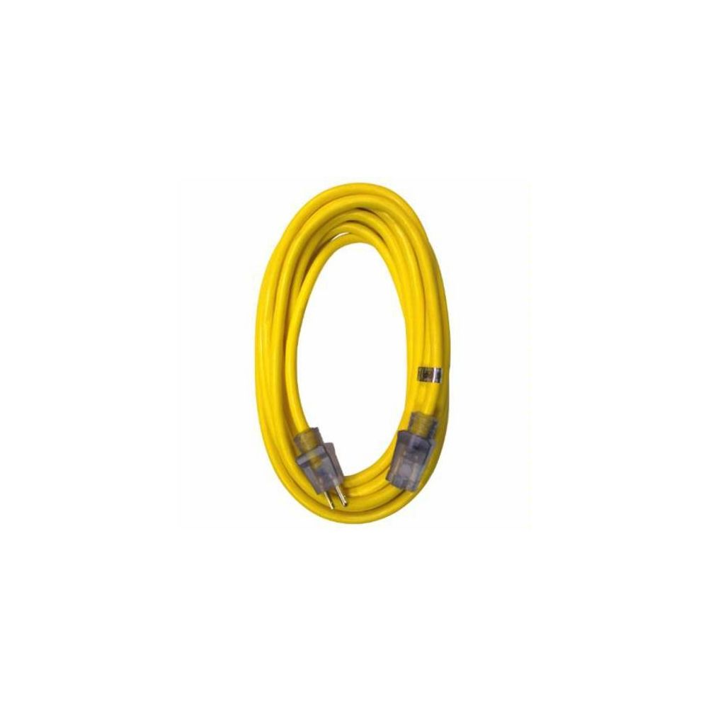RAPTOR® 12/3 Sjtw 100 ft. Hd Extension Cord Lgtd Yellow