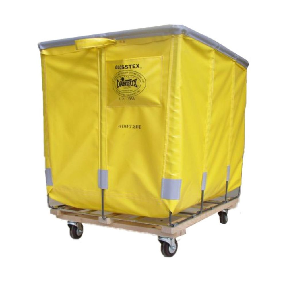 CR Daniels® Extra-Duty 8 Bushel Fabric Truck, Caster Pattern 60: 2 Swivel, 2 Rigid, Yellow