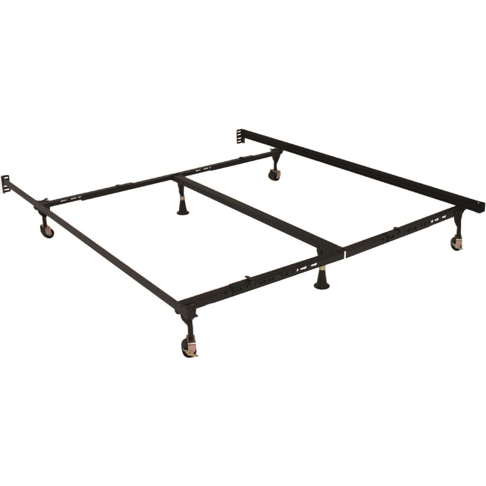 Hollywood Bed 7.5in High, Premium Lev-R-Lock® Bed Frame with Glides, Queen, California/Eastern King