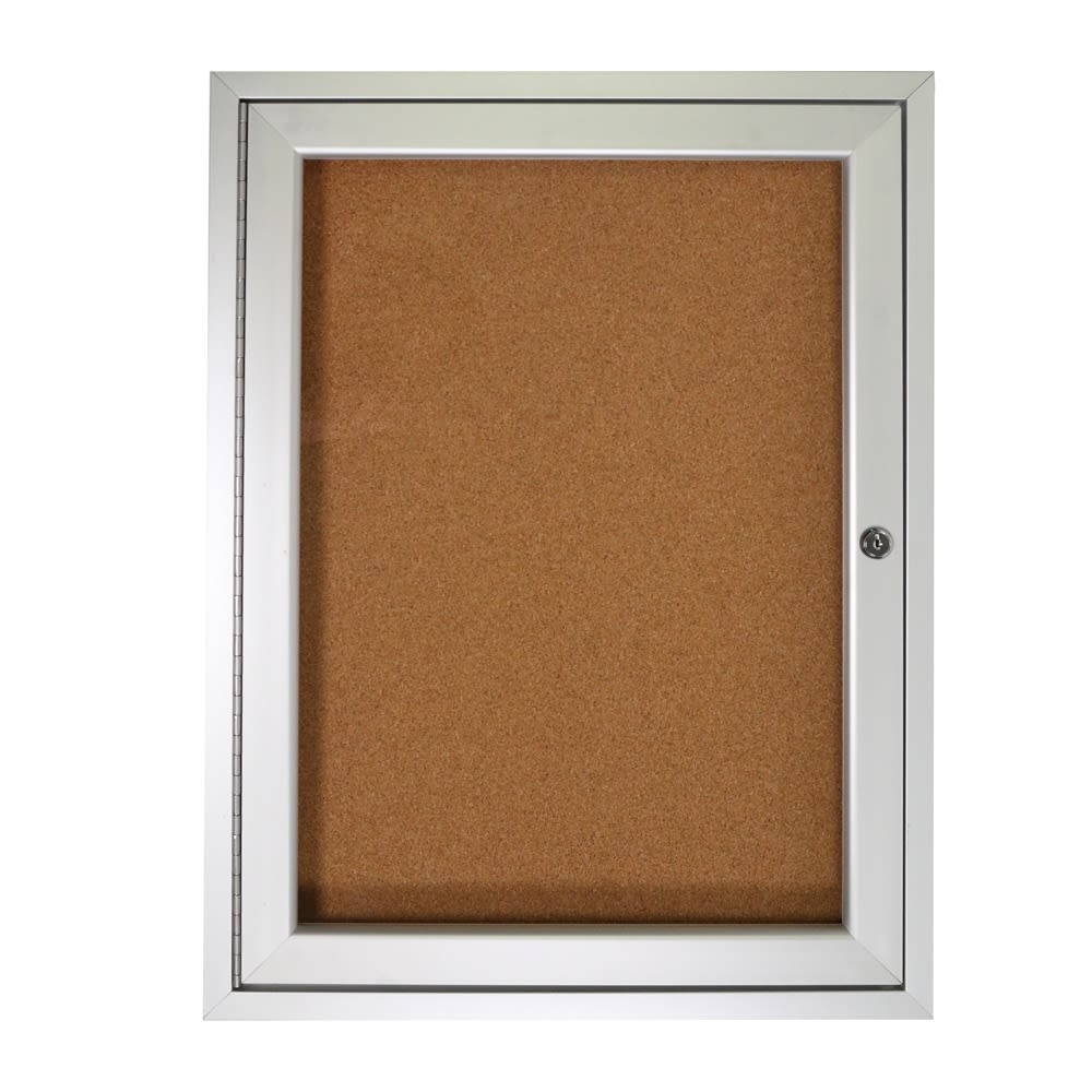 1-Door Cork Bulletin Board, Natural