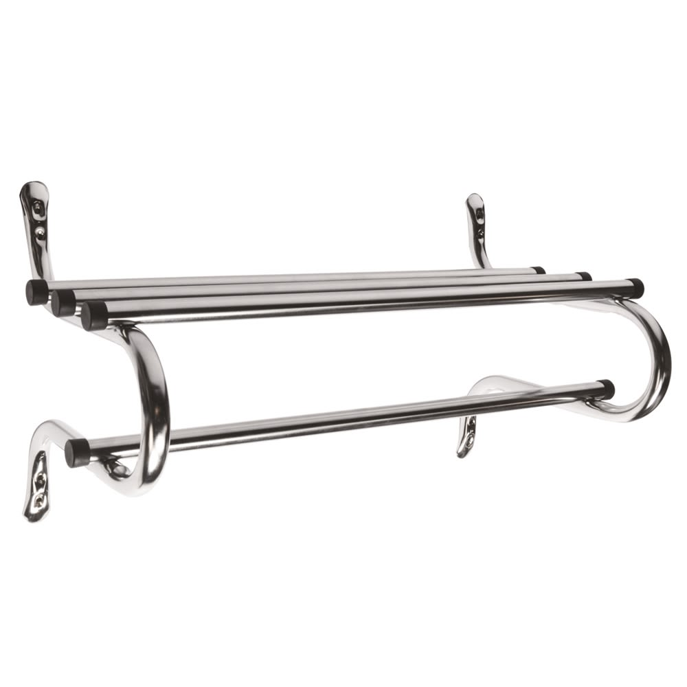 Zinc Coat Rack, 30in, Chrome